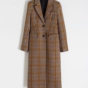 & Other Stories Wool Blend Multicolored Coat